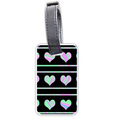 Pastel harts pattern Luggage Tags (Two Sides)