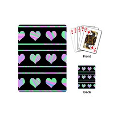 Pastel harts pattern Playing Cards (Mini)
