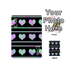 Pastel harts pattern Playing Cards 54 (Mini)