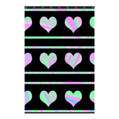 Pastel harts pattern Shower Curtain 48  x 72  (Small)