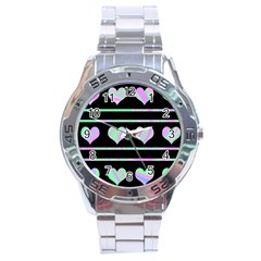 Pastel harts pattern Stainless Steel Analogue Watch