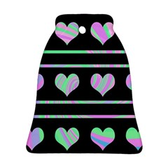 Pastel harts pattern Bell Ornament (2 Sides)