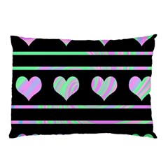 Pastel harts pattern Pillow Case (Two Sides)