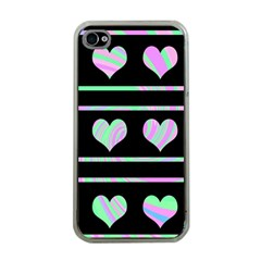 Pastel harts pattern Apple iPhone 4 Case (Clear)