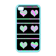 Pastel harts pattern Apple iPhone 4 Case (Color)