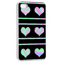 Pastel harts pattern Apple iPhone 4/4s Seamless Case (White)