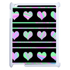 Pastel harts pattern Apple iPad 2 Case (White)