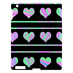 Pastel harts pattern Apple iPad 3/4 Hardshell Case