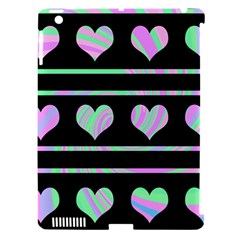 Pastel harts pattern Apple iPad 3/4 Hardshell Case (Compatible with Smart Cover)