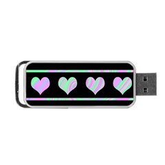 Pastel harts pattern Portable USB Flash (One Side)