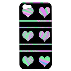 Pastel harts pattern Apple iPhone 5 Hardshell Case
