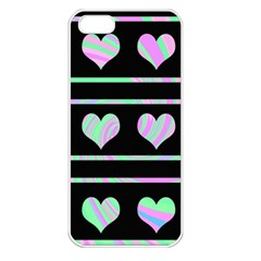 Pastel harts pattern Apple iPhone 5 Seamless Case (White)
