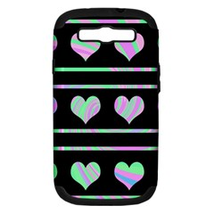 Pastel harts pattern Samsung Galaxy S III Hardshell Case (PC+Silicone)