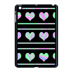 Pastel harts pattern Apple iPad Mini Case (Black)