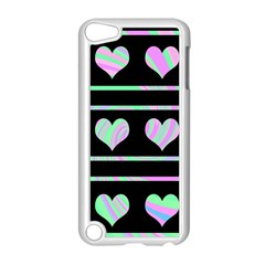 Pastel harts pattern Apple iPod Touch 5 Case (White)