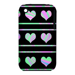 Pastel harts pattern iPhone 3S/3GS