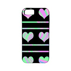 Pastel harts pattern Apple iPhone 5 Classic Hardshell Case (PC+Silicone)