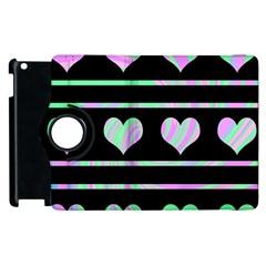 Pastel harts pattern Apple iPad 3/4 Flip 360 Case