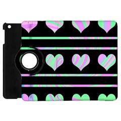 Pastel harts pattern Apple iPad Mini Flip 360 Case