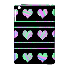 Pastel harts pattern Apple iPad Mini Hardshell Case (Compatible with Smart Cover)