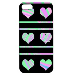 Pastel harts pattern Apple iPhone 5 Hardshell Case with Stand