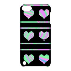 Pastel harts pattern Apple iPod Touch 5 Hardshell Case with Stand