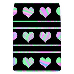Pastel harts pattern Flap Covers (S)