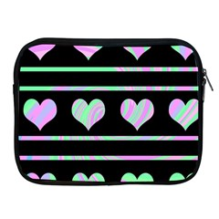 Pastel harts pattern Apple iPad 2/3/4 Zipper Cases