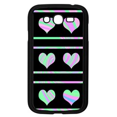 Pastel harts pattern Samsung Galaxy Grand DUOS I9082 Case (Black)