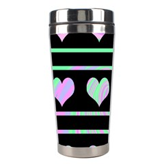 Pastel harts pattern Stainless Steel Travel Tumblers