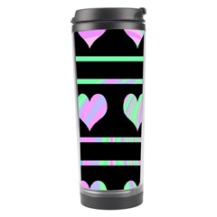 Pastel harts pattern Travel Tumbler