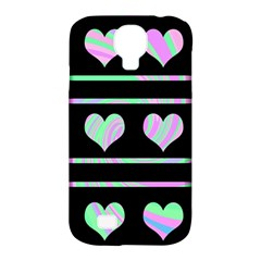 Pastel harts pattern Samsung Galaxy S4 Classic Hardshell Case (PC+Silicone)