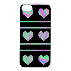 Pastel harts pattern Apple iPhone 5S/ SE Hardshell Case