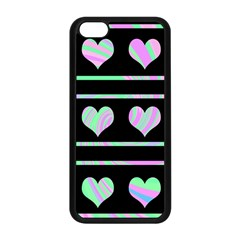 Pastel harts pattern Apple iPhone 5C Seamless Case (Black)