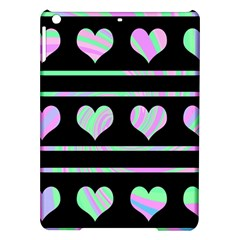 Pastel harts pattern iPad Air Hardshell Cases