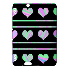 Pastel harts pattern Kindle Fire HDX Hardshell Case