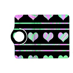 Pastel harts pattern Kindle Fire HD (2013) Flip 360 Case