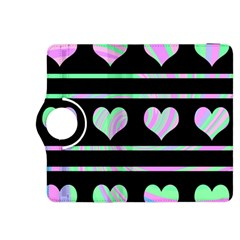 Pastel harts pattern Kindle Fire HDX 8.9  Flip 360 Case