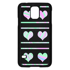 Pastel harts pattern Samsung Galaxy S5 Case (Black)