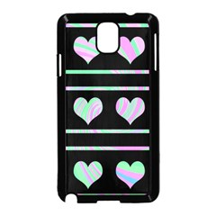 Pastel harts pattern Samsung Galaxy Note 3 Neo Hardshell Case (Black)