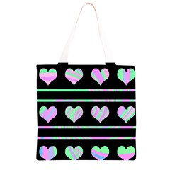 Pastel harts pattern Grocery Light Tote Bag