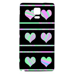 Pastel harts pattern Galaxy Note 4 Back Case