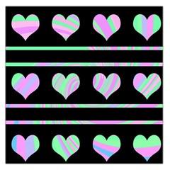 Pastel harts pattern Large Satin Scarf (Square)
