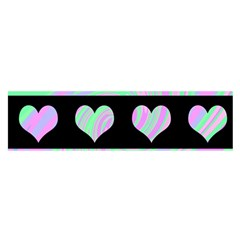 Pastel harts pattern Satin Scarf (Oblong)