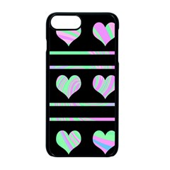 Pastel harts pattern Apple iPhone 7 Plus Seamless Case (Black)