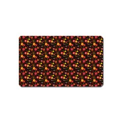 Exotic Colorful Flower Pattern Magnet (Name Card)
