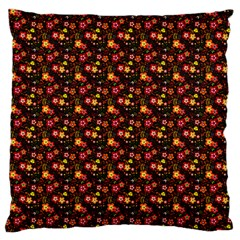 Exotic Colorful Flower Pattern Large Flano Cushion Case (Two Sides)
