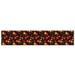 Exotic Colorful Flower Pattern Flano Scarf (Small)
