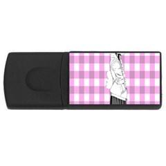 Cute Anime Girl USB Flash Drive Rectangular (2 GB)