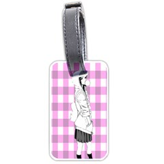Cute Anime Girl Luggage Tags (Two Sides)